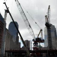 Construction at the WTC site last month.
