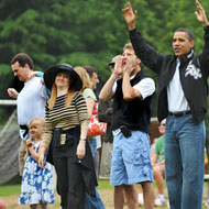 Obama, back when he allowed the press to follow him to soccer games.