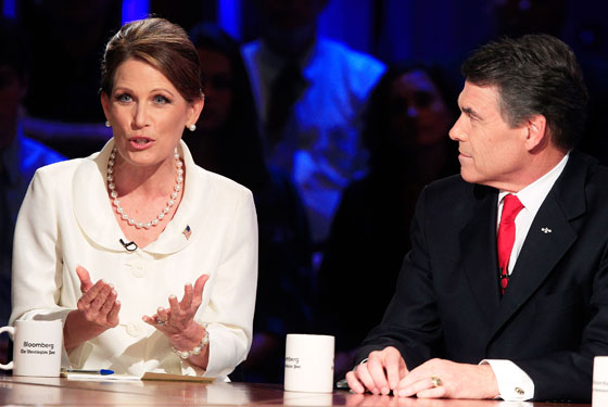 Perry and Bachmann debate.