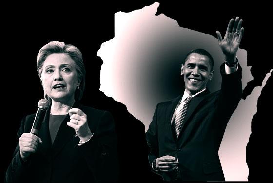 Hillary Obama Wisconsin
