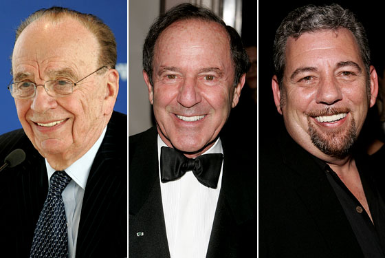 Rupert Murdoch, Mort Zuckerman and James Dolan