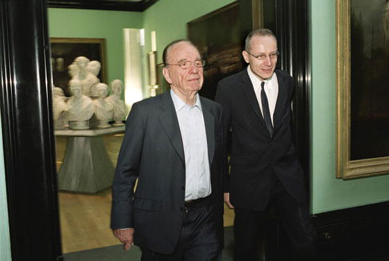 Robert Thomson and Rupert Murdoch