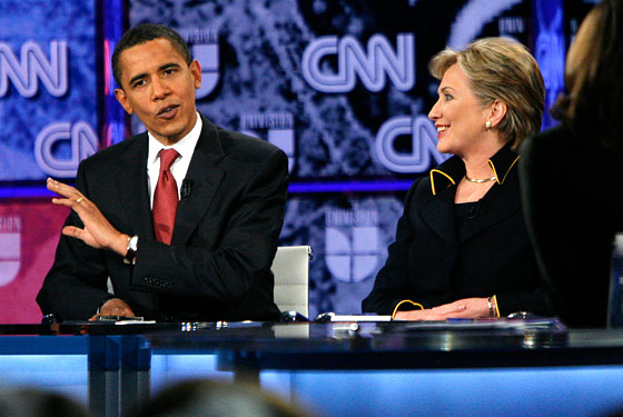 Obama and Clinton debate