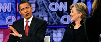 Obama and Clinton debate