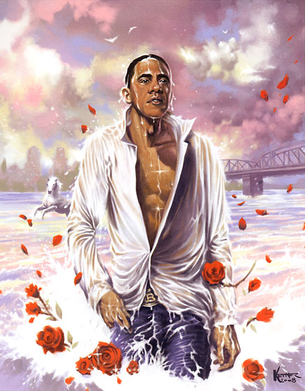 <strong><em>Barack on the Water</em>, 2008</strong>