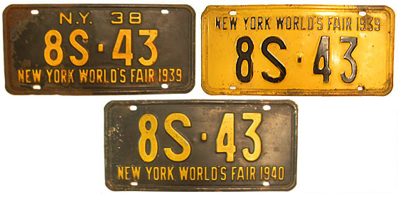 Every car on the road is dragooned into advertising the 1939-1940 New York World's Fair in Flushing Meadows. <br>