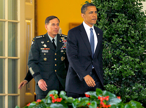 General David Petraeus relishes the opportunity to demonstrate some of the stealthiness he became known for as a cadet.