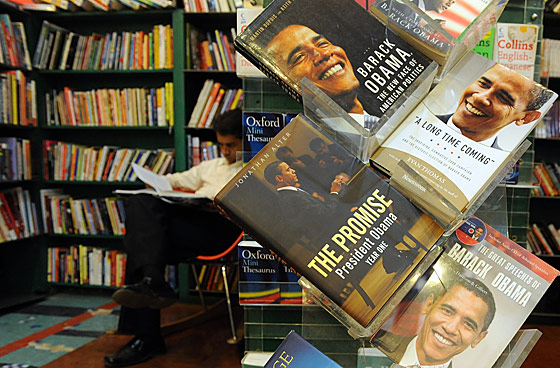 Bookstores solely devoted to carrying Obama-related titles have sprung up around India. If you're looking for <em>The Girl With the Dragon Tattoo</em>, get the hell out.