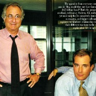 Madoff and his son Mark, pictured in <i>Vanity Fair</i>.
