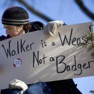 Anti-Walker protester.