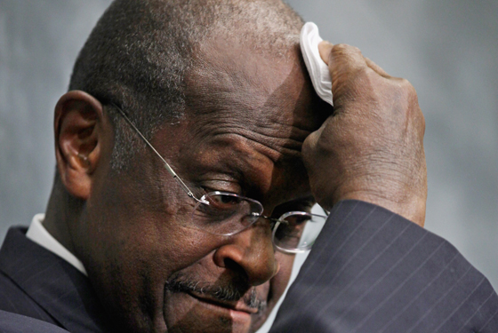 Herman Cain feels the heat.