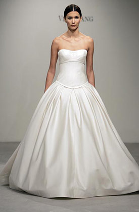 Ball  Wedding Dresses in silks and satins