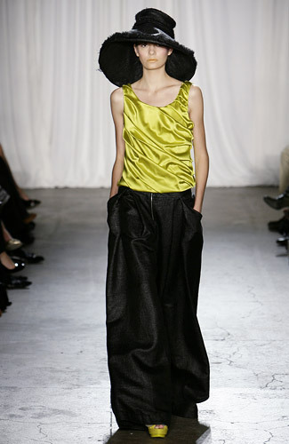 Christian Siriano - Christian Siriano - Spring 2009 Collection#### :  spring 2009 orange fitted womens