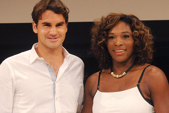 Roger Federer and Serena Williams.