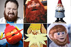 Clockwise from top left: Kevin, Ghost of Christmas Present, the Gnome, Kris Kringle, Snarf, Yukon Cornelius.