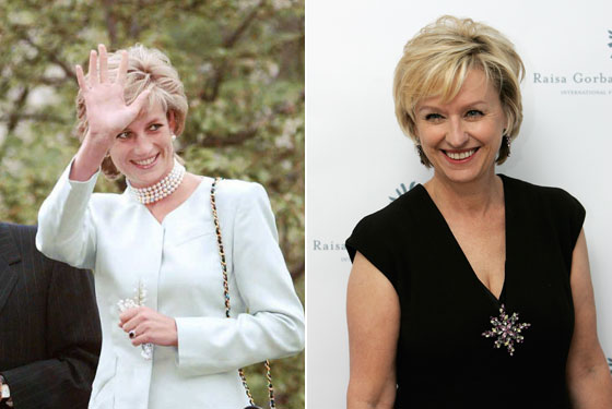 Two women, one haircut: Tina Brown and Princess Di. Photos: AFP/Getty Images