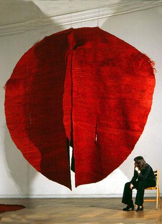 Artist Magdalena Abakanowicz Hangs Something Suggestive
