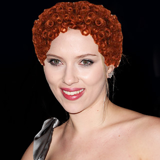 scarlett johansson with annie hair