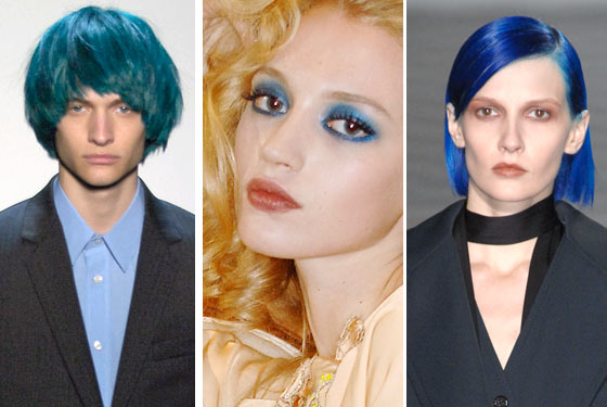 blue hairstyle. Blue Hair