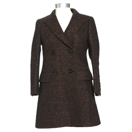 Shop-A-Matic -- Fall Outerwear -- Wool Boucle Coat by Burberry Prorsum :  wool boucle coat double breasted shop-a-matic designer